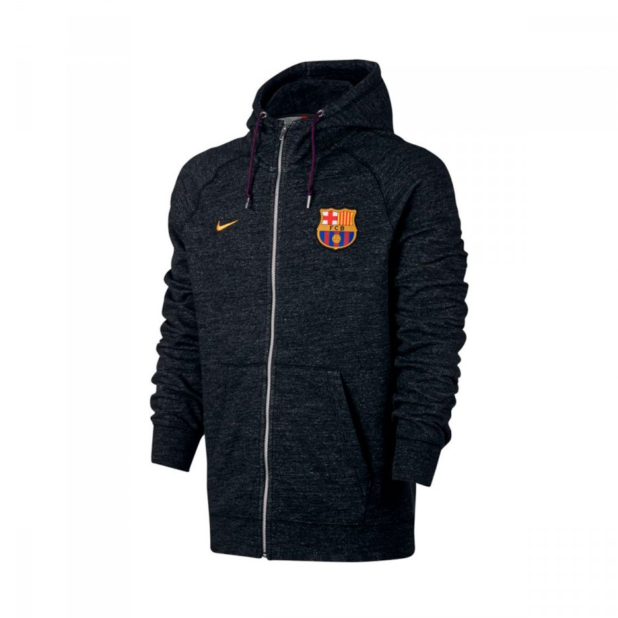 Capucha Fc Heather 2017 Chaqueta 2018 Barcelona Nike Nsw Black g1vIvq