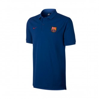 Pólo  Nike FC Barcelona NSW Crew 2017-2018 Deep royal blue-Noble red