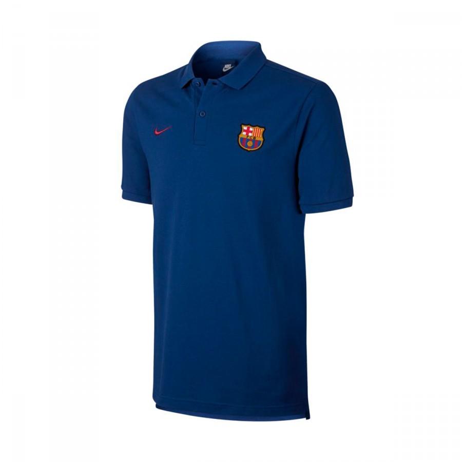 Polo Shirt Nike Fc Barcelona Nsw Crew 2017 2018 Deep Royal Blue