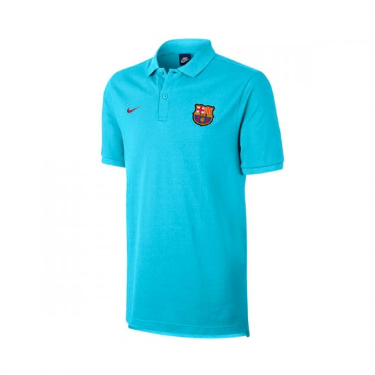 Polo  Nike FC Barcelona NSW Crew 2017-2018 Polarized blue-Noble red