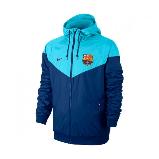 Chaqueta  Nike FC Barcelona NSW Windrunner 2017-2018 Deep royal blue-Polarized blue-Noble red
