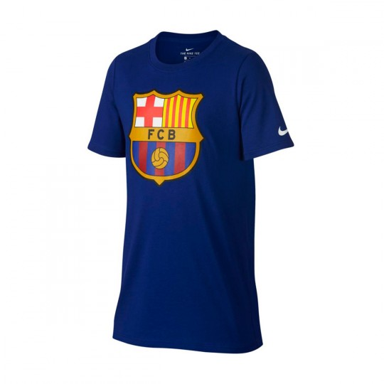 Camiseta  Nike jr FC Barcelona Evergreen 2017-2018 Deep royal blue