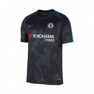 Camisola  Nike Chelsea FC Stadium SS Alternativo 2017-2018 Anthracite-Omega blue