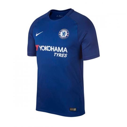 Camiseta  Nike Chelsea FC Stadium SS Primera Equipación 2017-2018 Rush blue-White