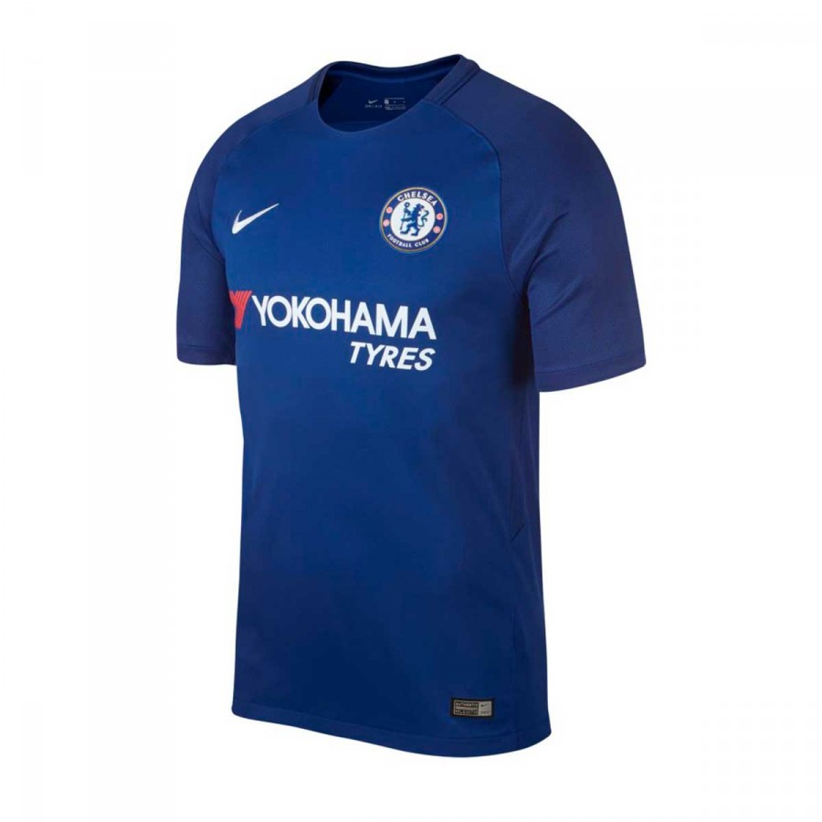 Camiseta Nike Chelsea FC Stadium SS Primera Equipación 2017-2018 Rush  blue-White - Tienda de Fútbol. Soloporteros es ahora Fútbol Emotion