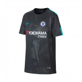 Camisola  Nike Jr Chelsea FC Stadium SS 3ª 2017-2018 Anthracite-Omega blue