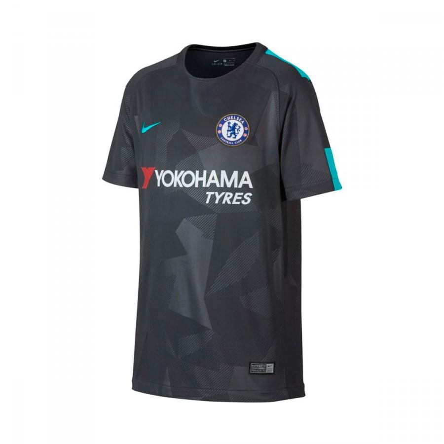 Camisola Nike Chelsea FC Stadium SS Equipamento Alternativo 2017-2018  Crianças Anthracite-Omega blue - Loja de futebol Fútbol Emotion cbb914c8e9c9d
