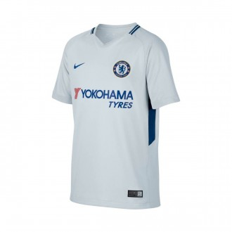 Camisola  Nike Jr Chelsea FC Stadium SS Alternativo 2017-2018 Pure platinum-Rush blue