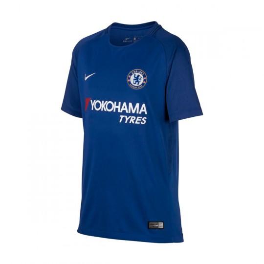 Camiseta  Nike Chelsea FC Stadium SS Primera Equipación 2017-2018 Niño Rush blue-White