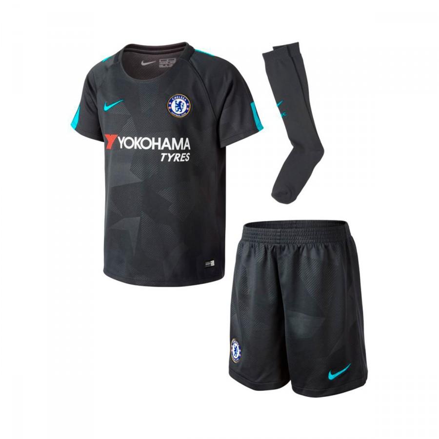 6eacda5babb00 Conjunto Nike Chelsea FC Kit Alternativo 2017-2018 Criança Anthracite-Omega  blue - Loja de futebol Fútbol Emotion