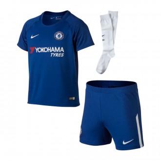 Conjunto  Nike Jr Chelsea FC Kit Principal 2017-2018 Rush blue-White