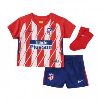 Conjunto  Nike Bebe Atlético de Madrid Primera Equipación 2017-2018 Sport red-White-Deep royal blue
