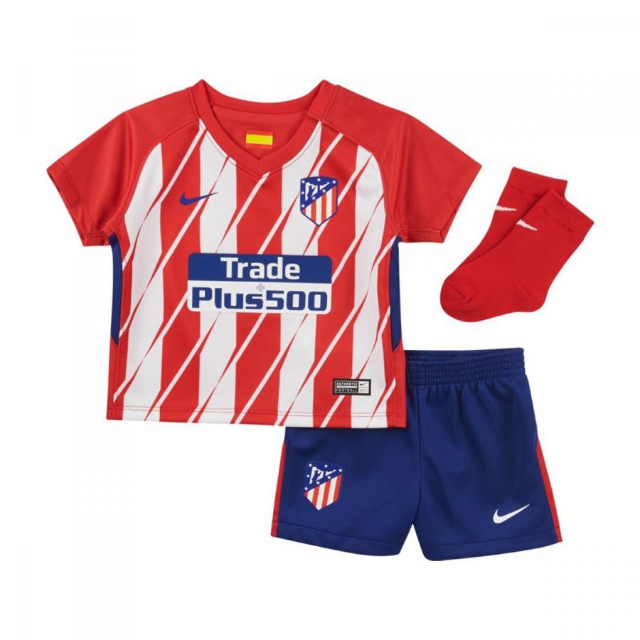 464ac0a7fa60e Kit Nike Kids Atlético de Madrid Home 2017-2018 Sport red-White-Deep ...