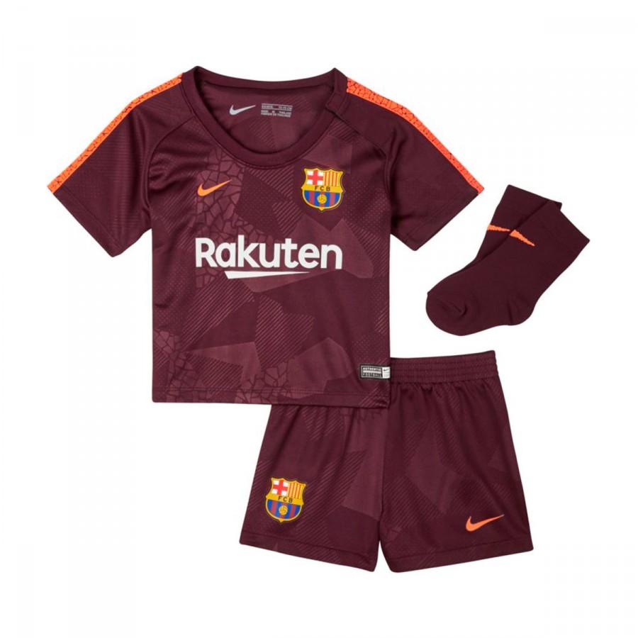 2fc70f05c Conjunto Nike Bebé FC Barcelona Tercera Equipación 2017-2018 Night  maroon-Hyper crimson - Tienda de fútbol Fútbol Emotion