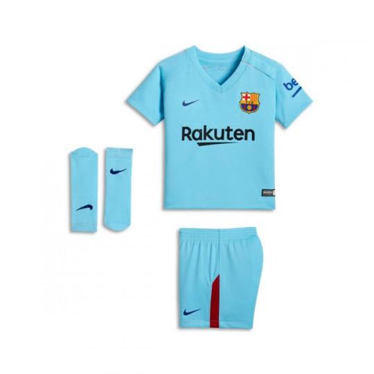 Conjunto  Nike FC Barcelona Segunda Equipación 2017-2018 Bebé Polarized blue-Deep royal blue