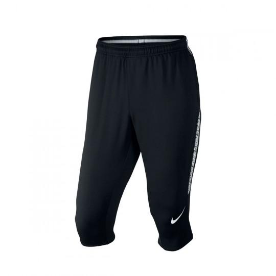 Calças Pirata  Nike Dry Squad Football Black-White
