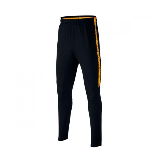Calças  Nike Jr Dry Squad Football Black-Laser orange
