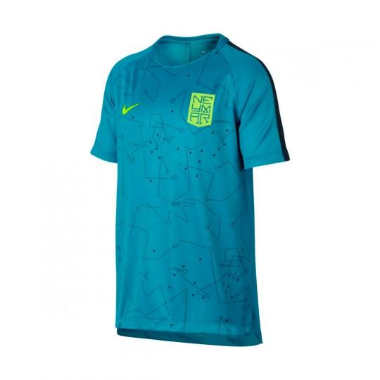 Camisola  Nike Jr Dry Squad Football Neymar Jr Light blue lacquer-Armory navy-Volt