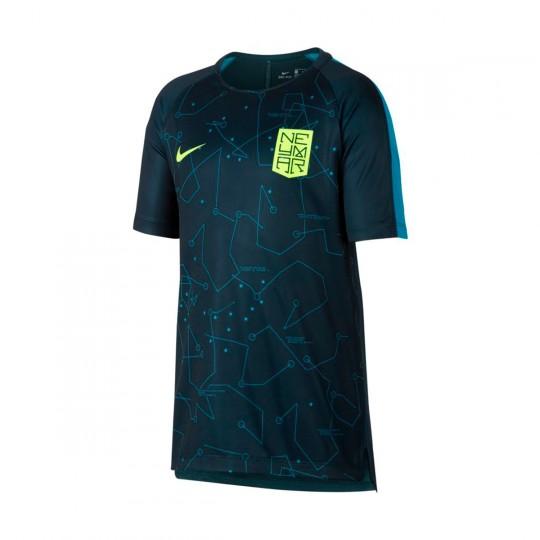 Camisola  Nike Jr Dry Squad Football Neymar Jr Armory navy- Light blue lacquer-Volt