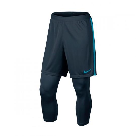 Pantalón corto  Nike Dry Squad Football Neymar 2x1 Niño Armory navy- Light blue lacquer