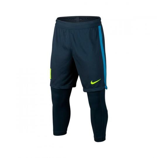 Calções  Nike Jr Dry Squad Football Neymar Jr 2x1 Armory navy-Volt