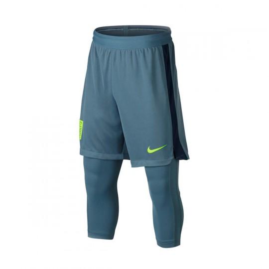 Pantalón corto  Nike Dry Squad Football Neymar 2x1 Niño Armory blue-Armory navy-Blue