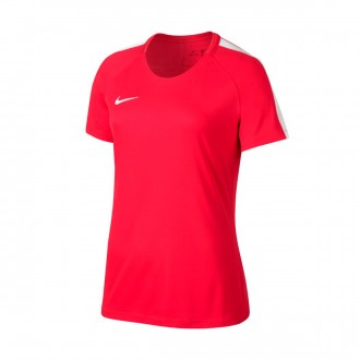 Camisola  Nike Dry Academy Football Mulher Siren red-White