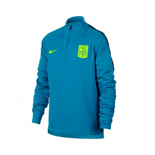 Camisola  Nike Jr Dry Squad Football Neymar Jr Light blue lacquer-Armory navy-Volt