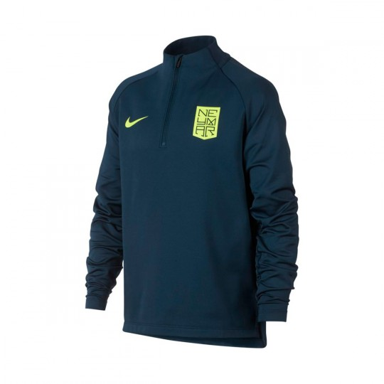Camiseta  Nike Dry Squad Football Neymar Niño Armory navy-Volt
