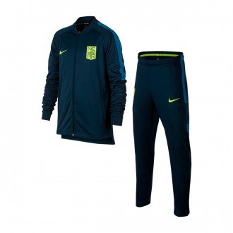 Fato de treino  Nike Jr Dry Squad Football Neymar Jr Armory navy-Volt