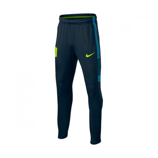 Calças  Nike Jr Dry Squad Football Neymar Jr Armory navy-Volt