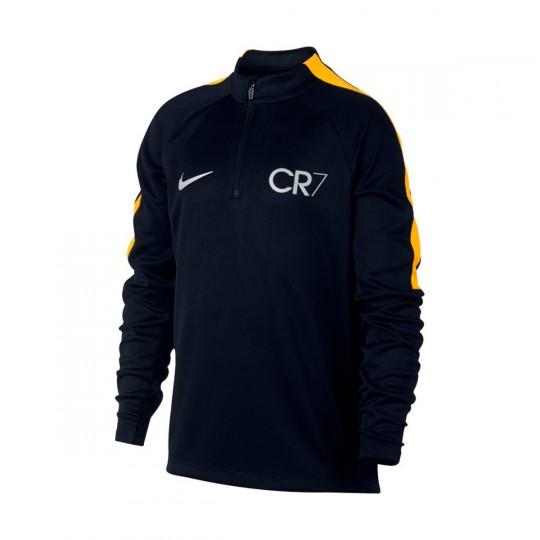 Camisola  Nike Jr CR7 Squad Football Black-Laser orange-Metallic silver