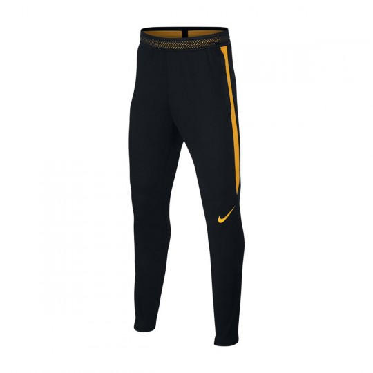 Calças  Nike Jr Dry Strike Football Black-Laser orange