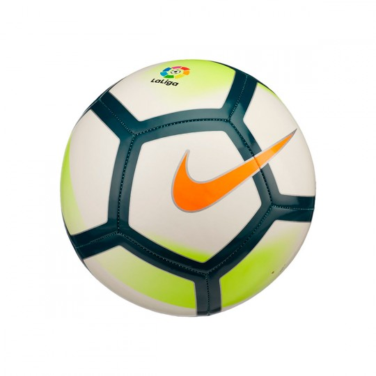 Balón  Nike La Liga 2017-2018 Pitch Football White-Turquoise-Seaweed-Total orange
