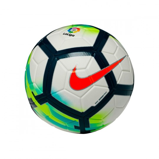 Balón  Nike La Liga 2017-2018 Strike Football White-Turquoise-Seaweed-Total orange