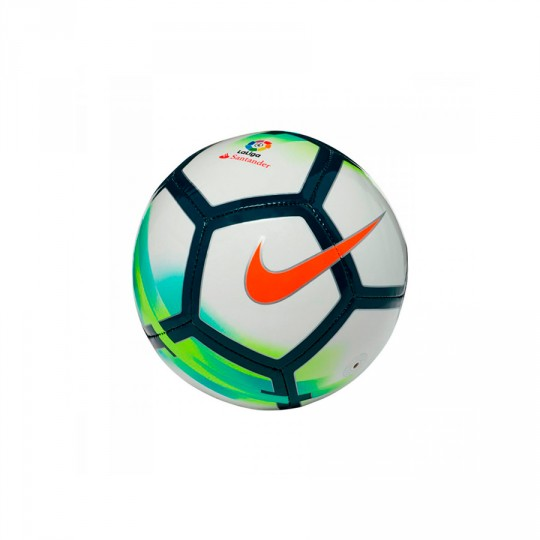 Balón  Nike La Liga Skills Football White-Total orange-Seaweed-Turquoise