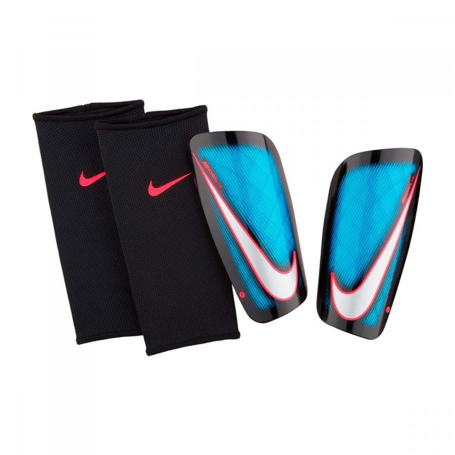 Shinpads Nike Mercurial Lite Blue orbit-Black-Metal silver ... f6eddeae03e