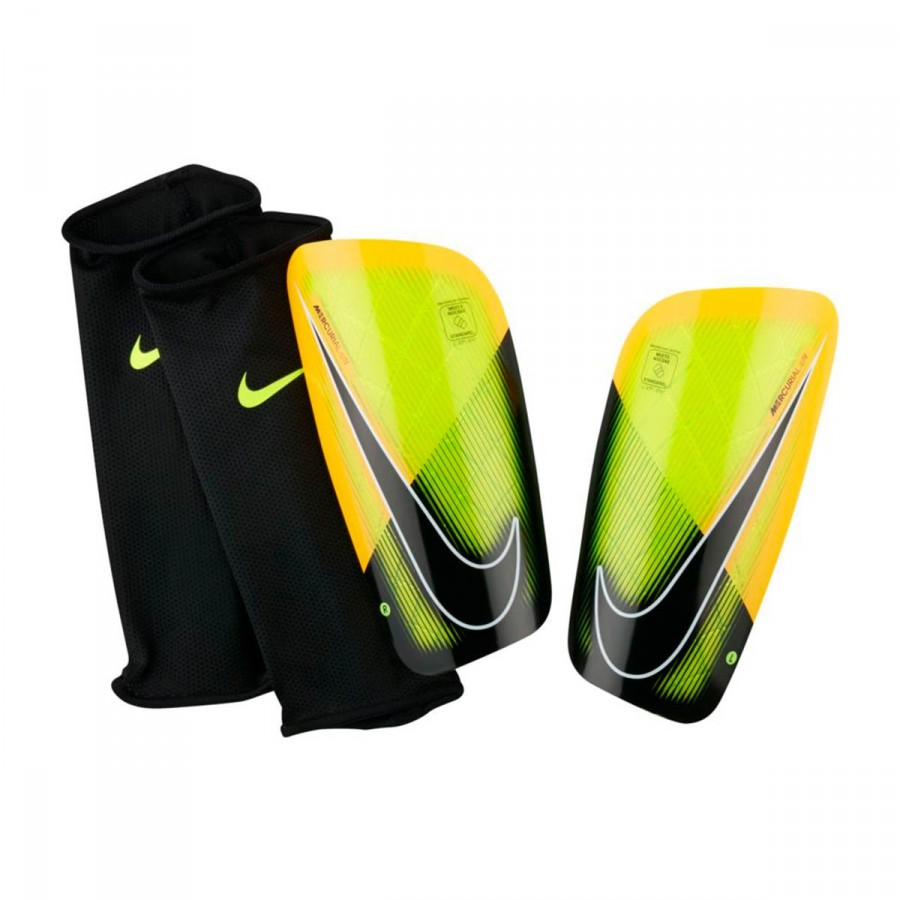 Shinpads Nike Mercurial Lite Volt-Laser orange-Black - Football ... aa205e679958
