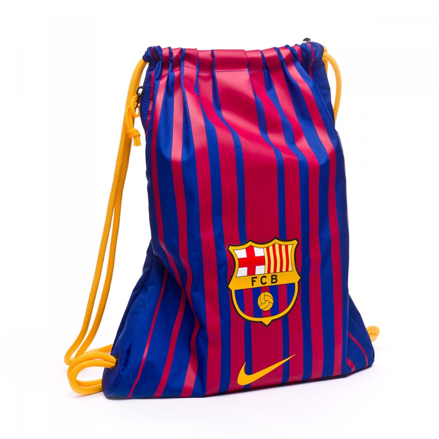 fc7ead958 Bolsa Nike Gymsack FC Barcelona Stadium 2017-2018 Deep royal-University  gold - Tienda de fútbol Fútbol Emotion