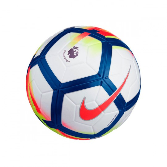 Balón  Nike Ordem V Premier League 2017-2018 White-Crimson-Deep royal