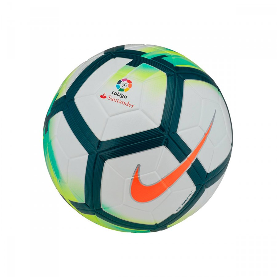 13267f3991790 Balón Nike Ordem V La Liga 2017-2018 White-Turquoise-Seaweed-Total orange -  Tienda de fútbol Fútbol Emotion
