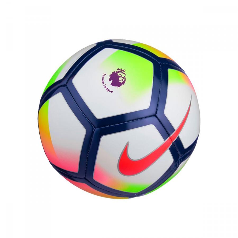 Ball Nike Pitch Premier League 2017-2018 White-Crimson-Deep royal ... 03feeee585a