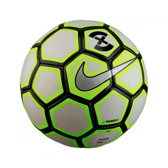 Balón  Nike FootballX Premier White-Wolf grey-Volt