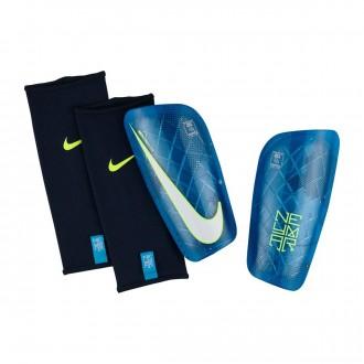 Caneleira  Nike Mercurial Lite Neymar Blue orbit-Volt-White