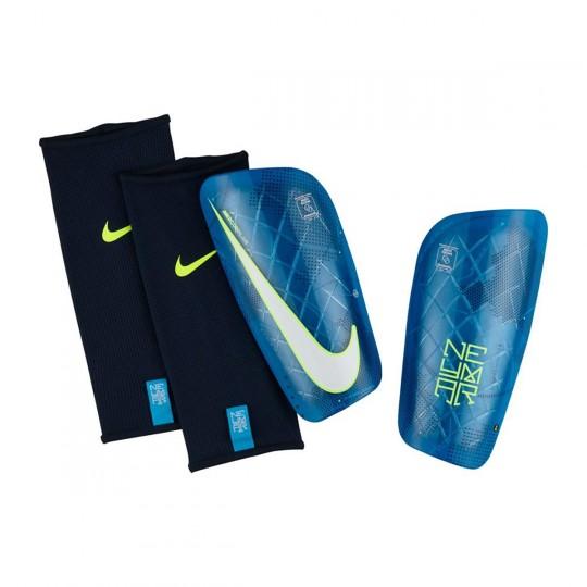 Espinillera  Nike Mercurial Lite Neymar Blue orbit-Volt-White