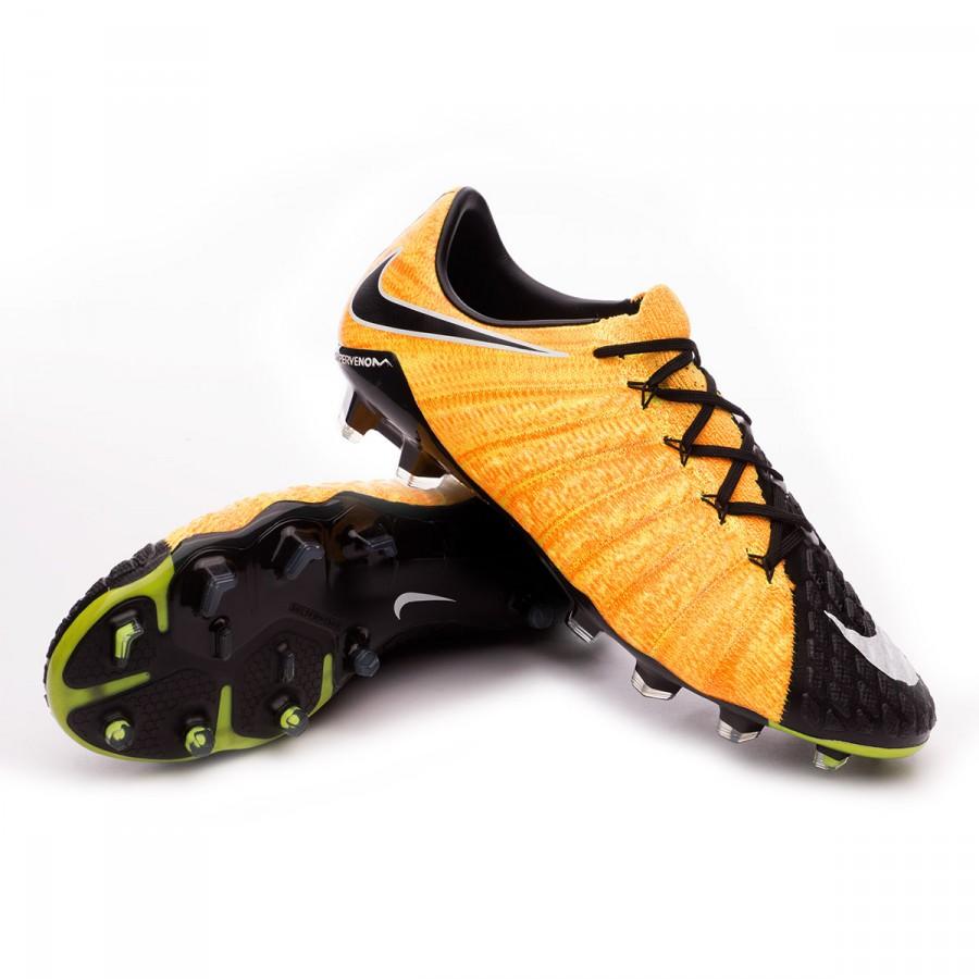 74f3576e4 Football Boots Nike Hypervenom Phantom III ACC FG Laser orange-Black ...