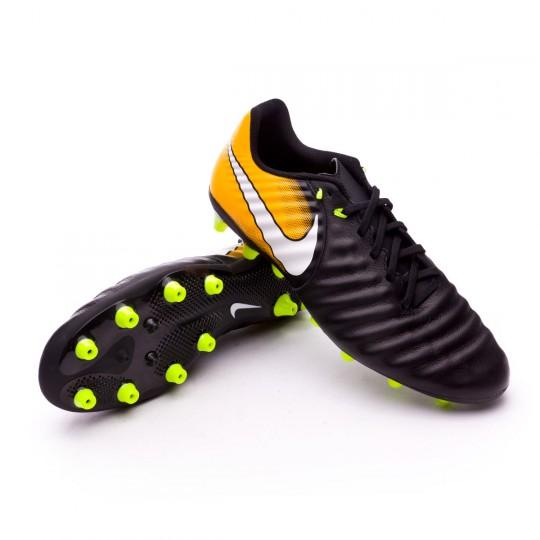 Chaussure  Nike Tiempo Ligera IV AG-Pro Black-White-Laser orange-Volt