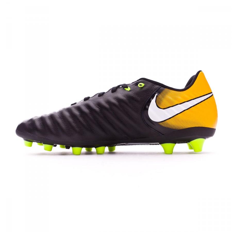 the latest 8645c cde28 Bota de fútbol Nike Tiempo Ligera IV AG-Pro Black-White-Laser orange-Volt -  Tienda de fútbol Fútbol Emotion