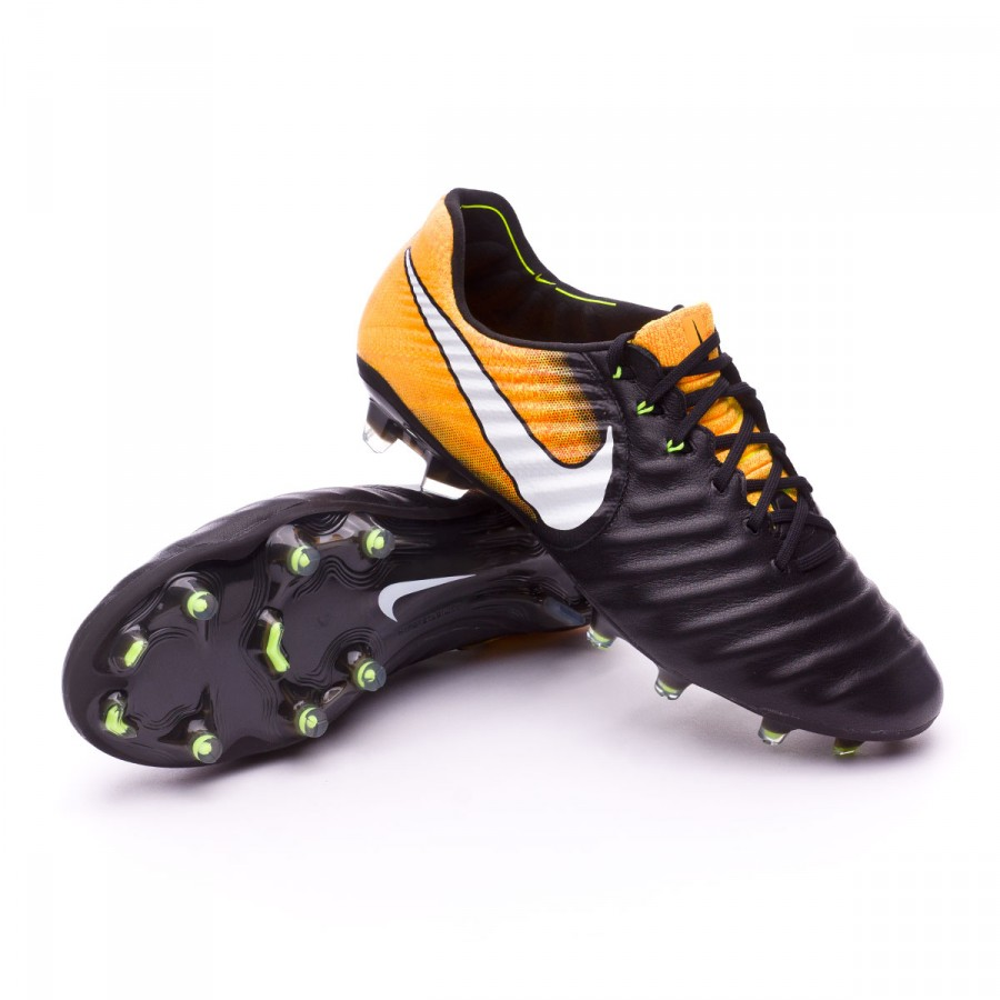 1ba76053b957 Football Boots Nike Tiempo Legend VII ACC FG Black-White-Laser orange-Volt  - Tienda de fútbol Fútbol Emotion