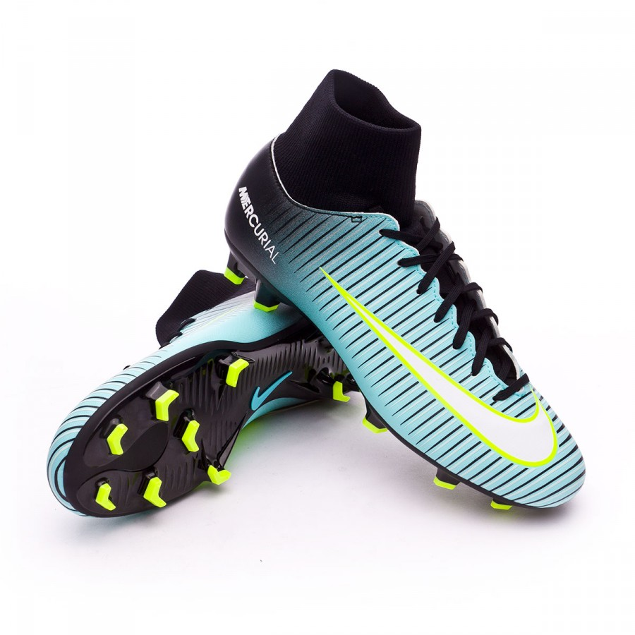 huge discount dd723 221ed Bota Mercurial Victory VI DF FG Light aqua-White-Black-Volt